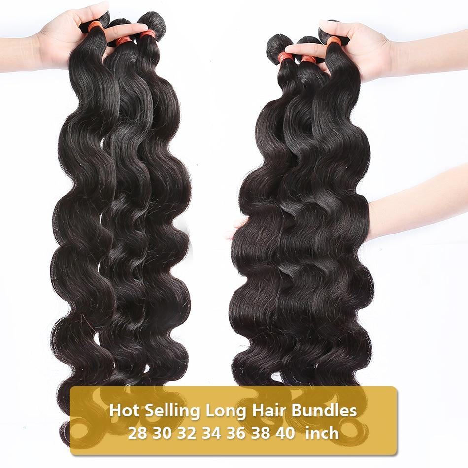 Wigirl onda do corpo 28 30 32 40 Polegada remy cabelo brasileiro tecer pacotes de cor natural 100% extensão do cabelo humano|Apliques ondulados|   -