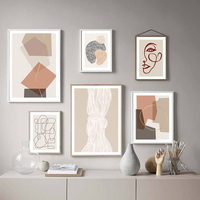 ミニマリズム幾何学的抽象ライン現代北欧ポスターやプリント壁アートキャンバス絵画の装飾写真リビングルーム