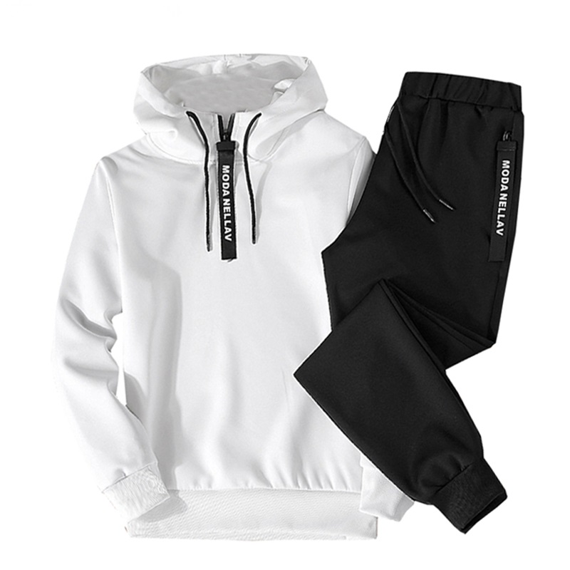 2019 Men's Spring And Autumn Long-sleeved Sweater Casual Sports Suit Hooded Sets Of Two Sets Of Clothes Street Wear Tracksuit