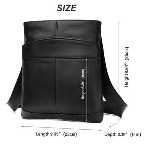 Image 2 - MVA Mens shoulder bag for men oil leather small messenger bag mens genuine leather crossbody/males bags for men handbag 703