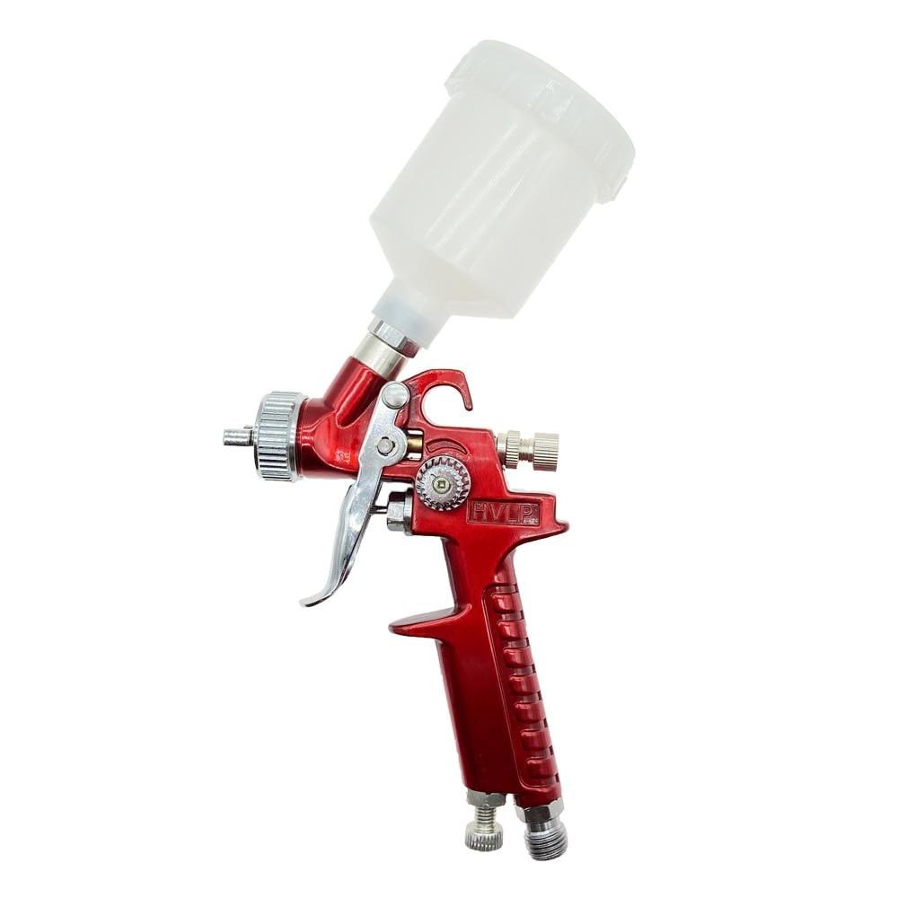 Upgraded Version H-2000 HVLP Spray Gun 0.8mm/1.0mm Nozzle Mini Air Paint Spray Guns Airbrush For Painting Car Aerograph