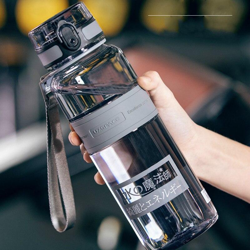 Garrafa de água esportes ao ar livre garrafa de água de anion garrafa de esportes ao ar livre portátil anti-queda chaleira garrafa de esportes cinza
