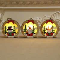 Lindo dibujo de Navidad colgantes de madera regalos de chico ornamento de árbol de Navidad para el hogar DIY decoración muñeco de nieve Elk Navidad para chico s