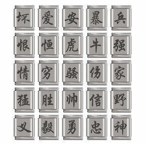 Мужской браслет из нержавеющей стали Hapiship, оригинальный браслет 13 мм с очаровательным китайским символом ромашки, DJ172