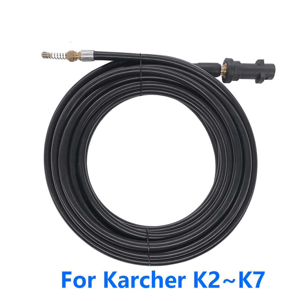 6m 10m 15m 20 metros x 2320psi/160bar desagüe agua manguera de limpieza para Karcher K1 k2 K3 K4 K5 K6 K7 lavadora de alta presión