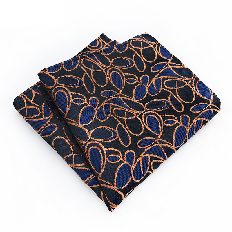 Men's Vintage Floral Stripe Silk Tie Handkerchief Pocket Square Fashion Gifts For Men Hanky Wedding Party Chest Towel