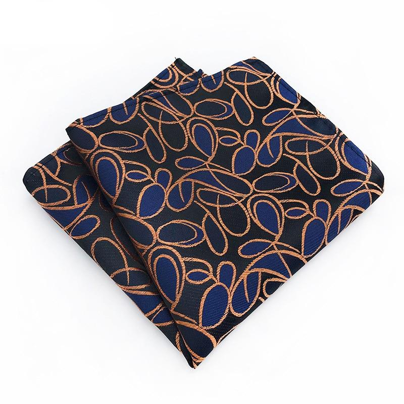 Men's Vintage Floral Stripe Silk Tie Handkerchief Pocket Square Fashion Gifts For Men Hanky Wedding Party Chest Towel