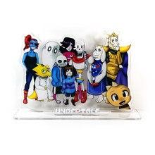 Support acrylique pour figurine de dessin animé, support de plaque, modèle de personnage, Frisk Sans Papyrus, Undyne, Alphys, Mettaton, HM