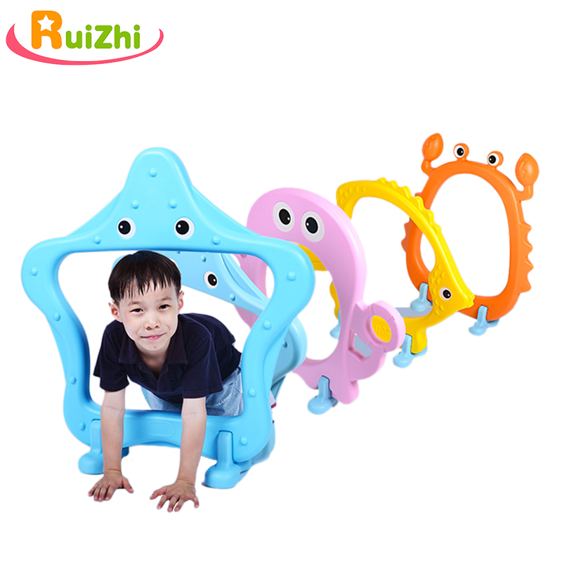 Ruizhi 4pcs Children Sea World Plastic Arch Barrier Frame Outdoor Sport Jumping Through Hoops Sensory Equipment Kids Toys RZ1157