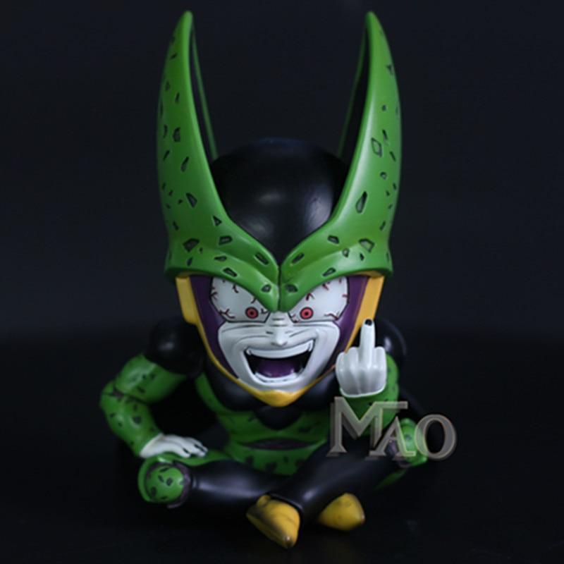 Dragon Ball ultime Bot cellule corps complet érigé doigt moyen GK résine Statue figurine jouet X2458