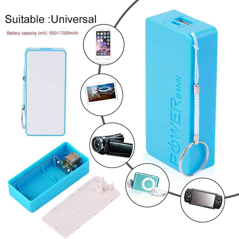 5600mAh 5V USB DIY Powerbank vaka taşınabilir harici 2X18650 pil saklama kutusu taşınabilir güç kaynağı kılıfı kutusu kabuk cep telefonları için