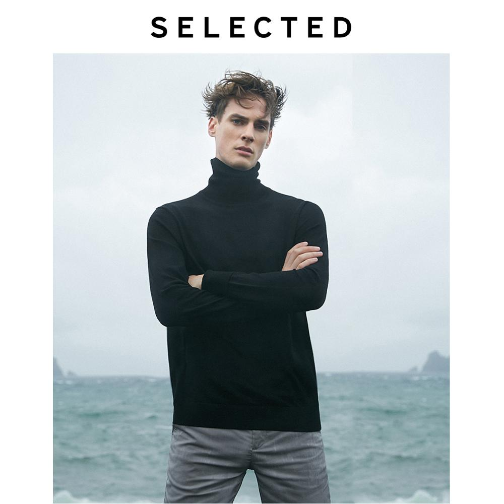 SELECTED 100% Wool High-necked Knitted Pullovers Men Autumn & Winter Sweater  S | 419424553