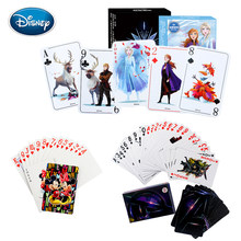 Card game 54pcs Frozen 2/Avengers/Mickey Cartoon Elsa/Hero papier speelkaart casual desktop kaart game kinderen volwassen auto spel(China)