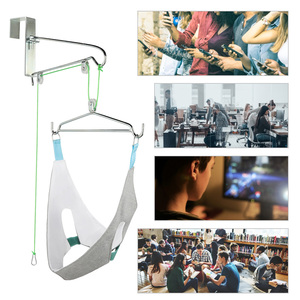 Image 5 - Hanging Neck Tractor Belt Posture Corrector Support Neck Stretching Device Pain Relief Chiropractic Cervical Traction Hammock
