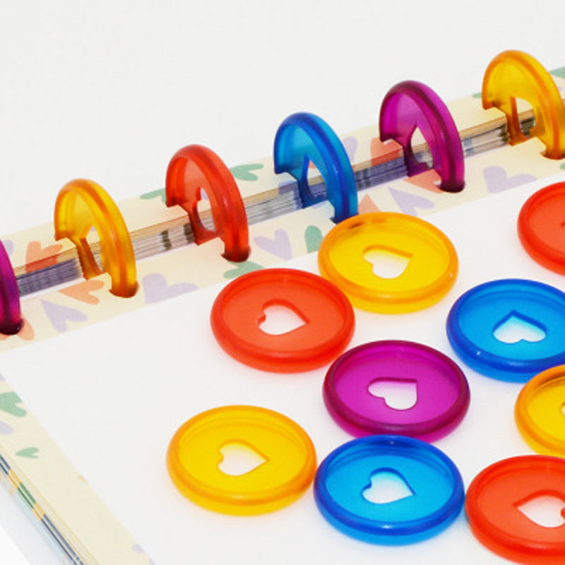 yiwi 100pc multicolorido caderno cogumelo buraco botao 01