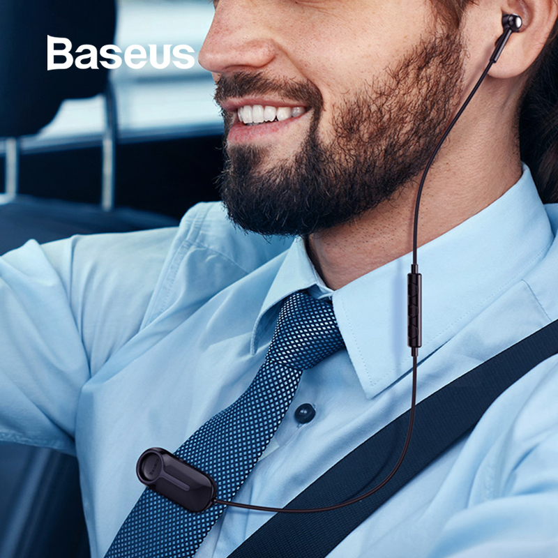 Baseus A06 Bluetooth Earphone Portable Business Wireless Headset Handsfree With Clip For Driving Car Work For IPhone Huawei