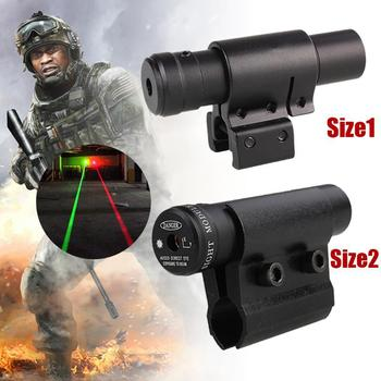 Tactical Red Laser Sight Scope 11mm/20mm Gun Rifle Picatinny Weaver Mount Hunting Riflescope Optics Rail Mount Laser Dot Sight tactical 1x red dot sight scope 3x magnifier with picatinny rial side flip mount base tan m1243