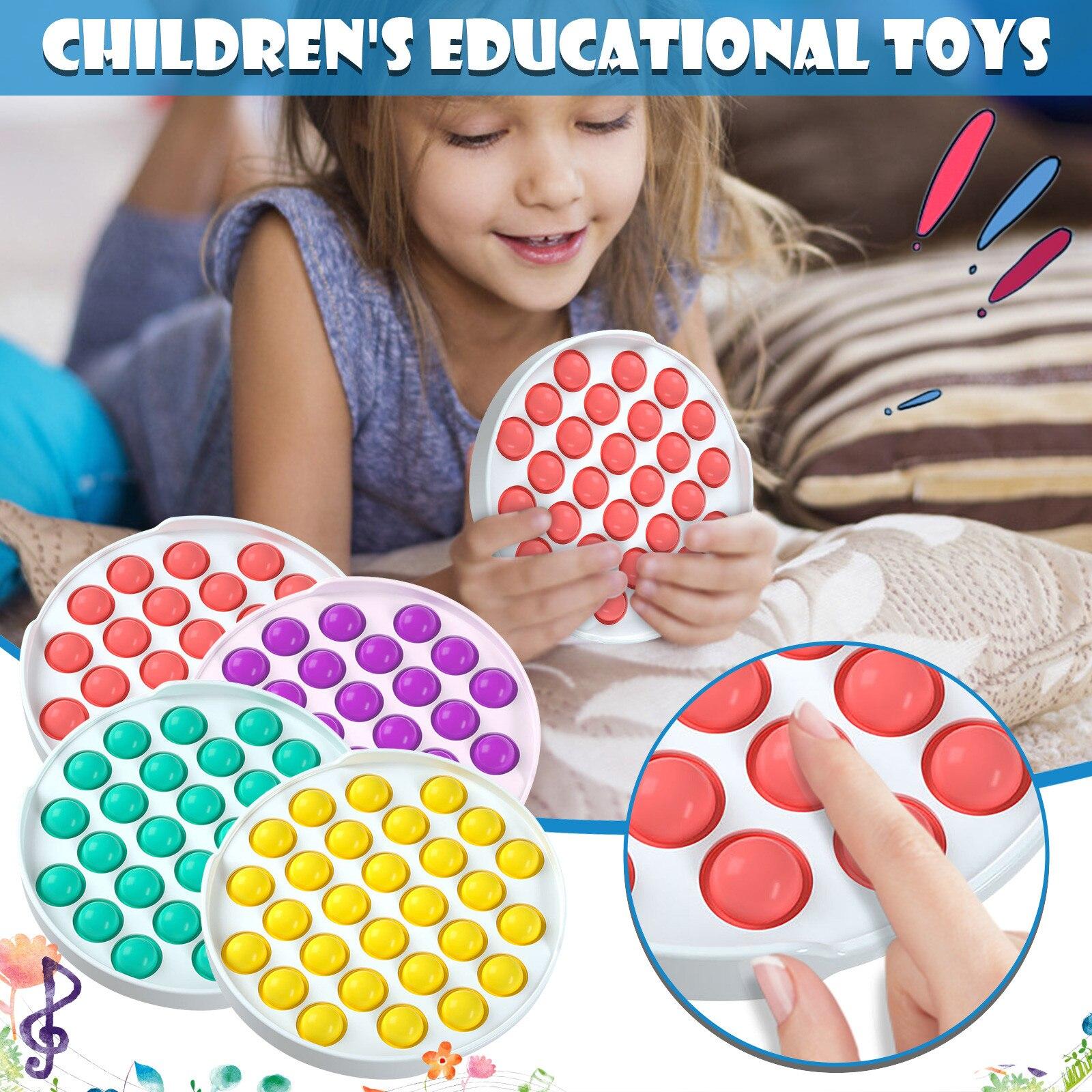 Toys Autism Anti-Stress Rainbow Bubble-Sensory Pops Squishy Fidget-Push Pop-It Colorful img2