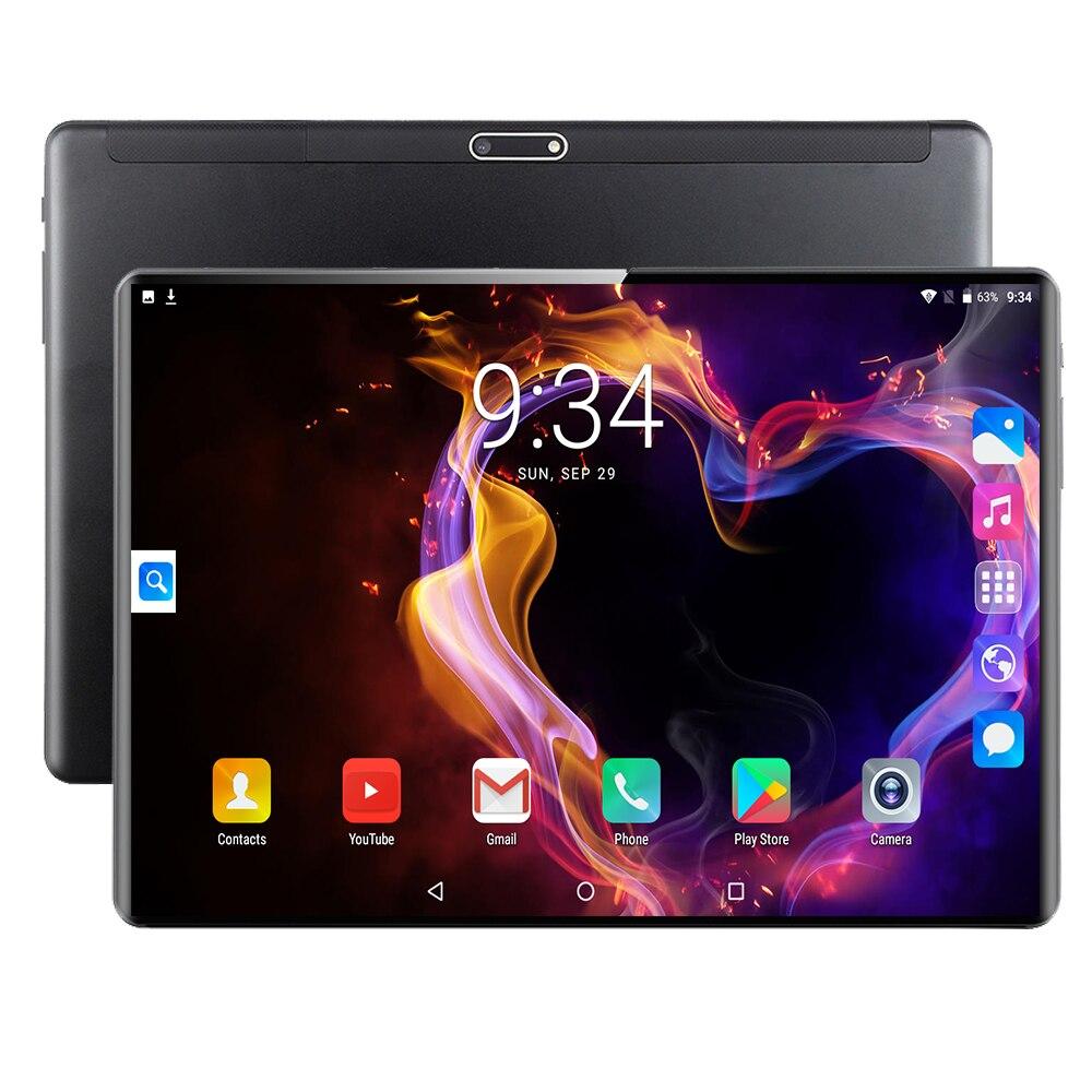 Tablettes 6GB 128GB Android 9.0 tablette 10.1 pouces IPS Super verre trempé appel téléphonique 3G 4G tablette Octa Core double carte SIM WiFi GPS