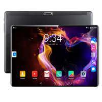 Tabuletas 6 gb 128 gb android 9.0 tablet 10.1 polegada ips super vidro temperado telefone chamada 3g 4g tablet octa núcleo duplo sim cartão wifi gps