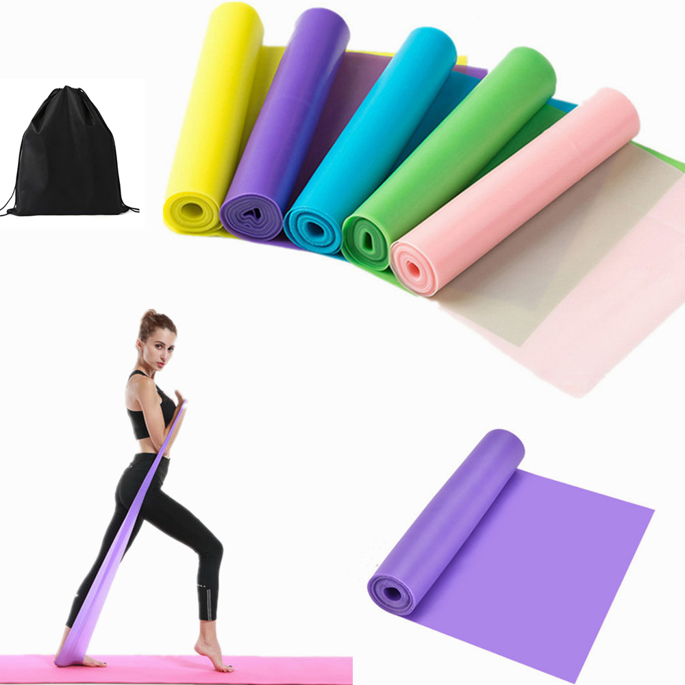 Pilates Theraband Elastic Gym Gum  Men Women Leagues Exercise Stretching Legs Arms Hip Bodybuilding Rubber For Fitness Equipment