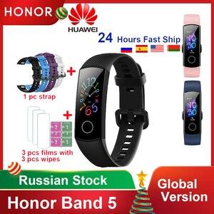 Original Honor Band 5 4/4e Global Version Blood Oxygen Smart Band Heart Rate Monitor Waterproof Fitness Watch Bracelet