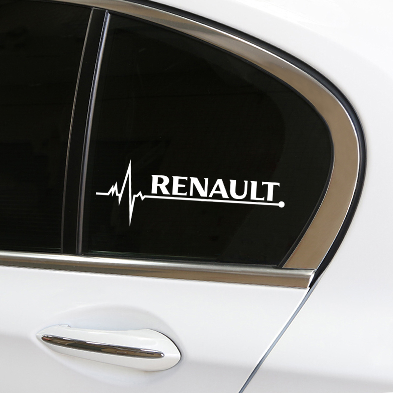 1pcs Car Decal Sticker Windows Door Decoration for renault duster megane 2 logan clio Badge sticker emblem car accessories-in Car Tax Disc Holders from Automobiles & Motorcycles