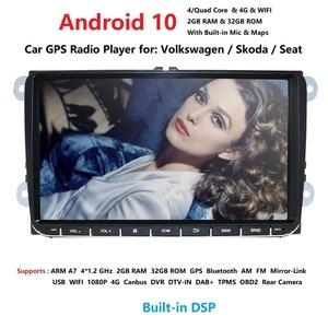Image 1 - Ossuret 9 inch Android 10 Double 2Din Car radio GPS Auto radio 2 Din USB For Volkswagen/Passat/GOLF/Skoda/Seat Wifi bluetooth