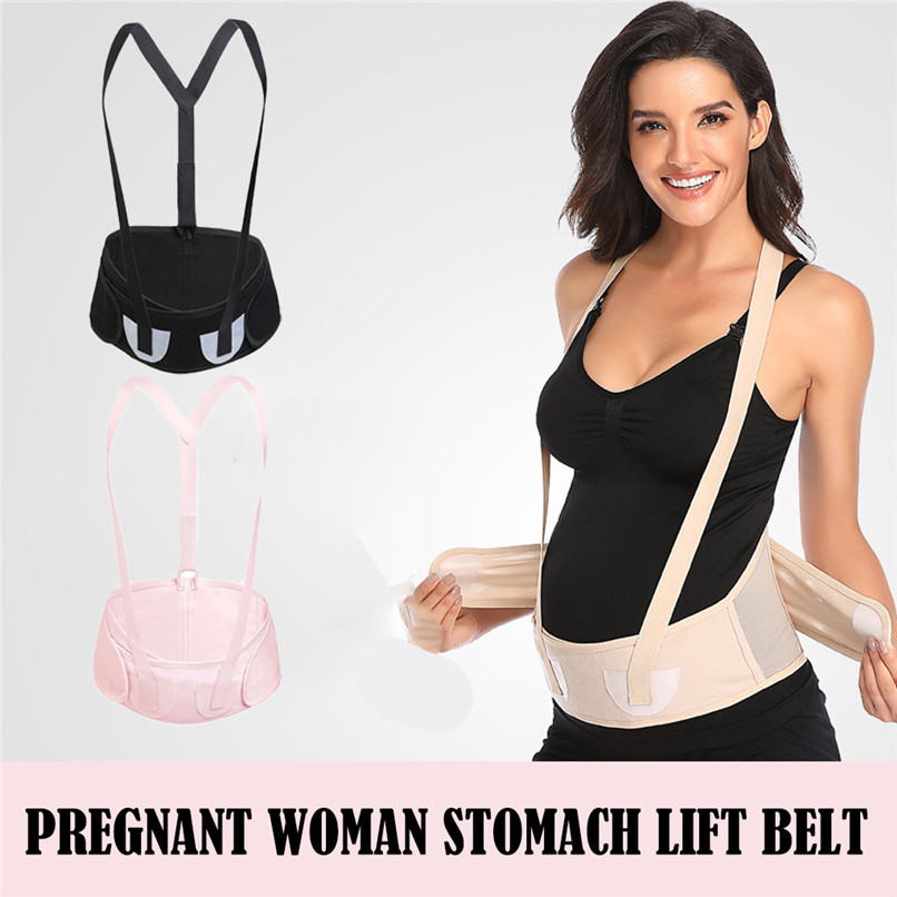One Piece Women Special Pregnant Protection Belt Stomach Lift Belt With Shoulder Strap Protection Belt #30N27