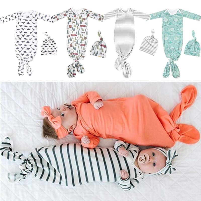 2 Pcs/Set Baby Bodysuit Hat Set Newborn Photography Props Romper Jumpsuit Cap XXFE