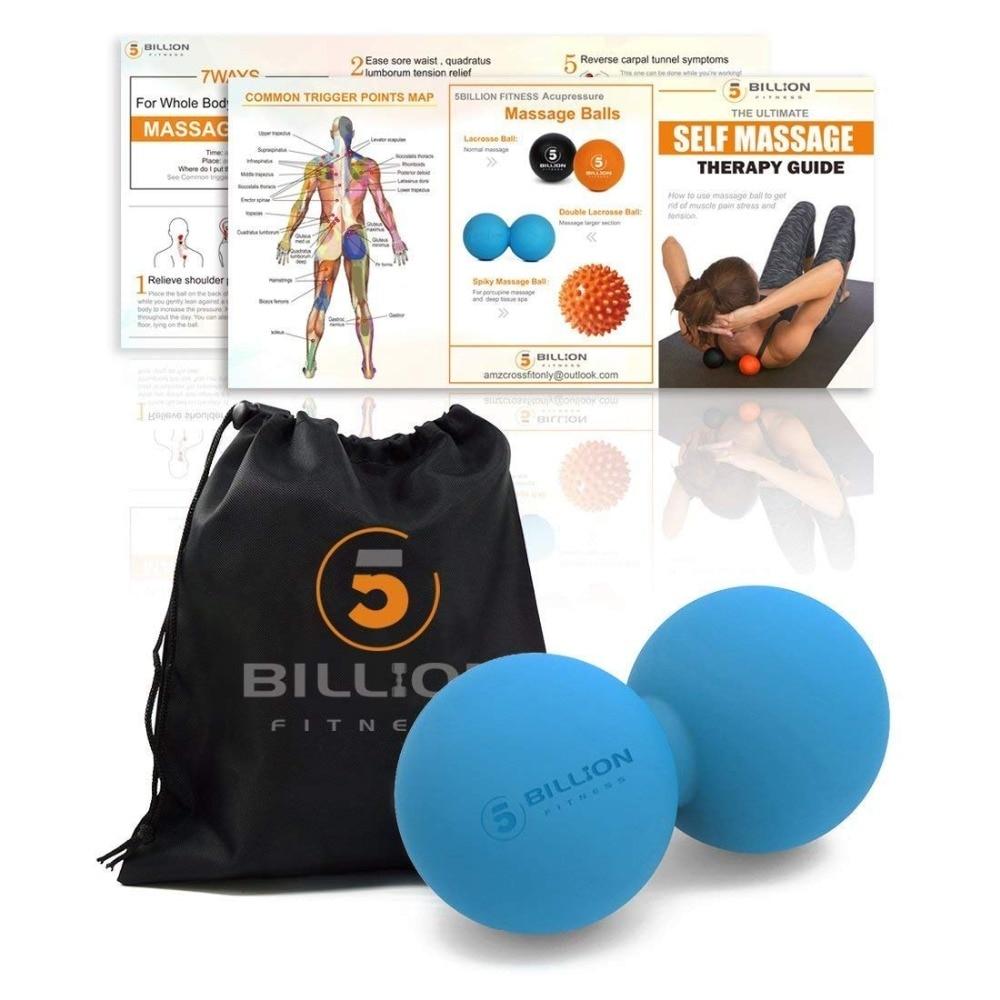 Lightweight Massage Ball Set Lacrosse Ball Spiky Ball Double Peanut Ball