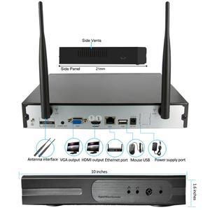 Image 5 - 8CH الصوت نظام الدائرة التلفزيونية المغلقة اللاسلكية NVR SYTEM 2.0MP 4 قطعة الأشعة تحت الحمراء في الأماكن المغلقة في الأماكن المغلقة P2P واي فاي CCTV الأمن نظام الكاميرا مراقبة طقم NVR