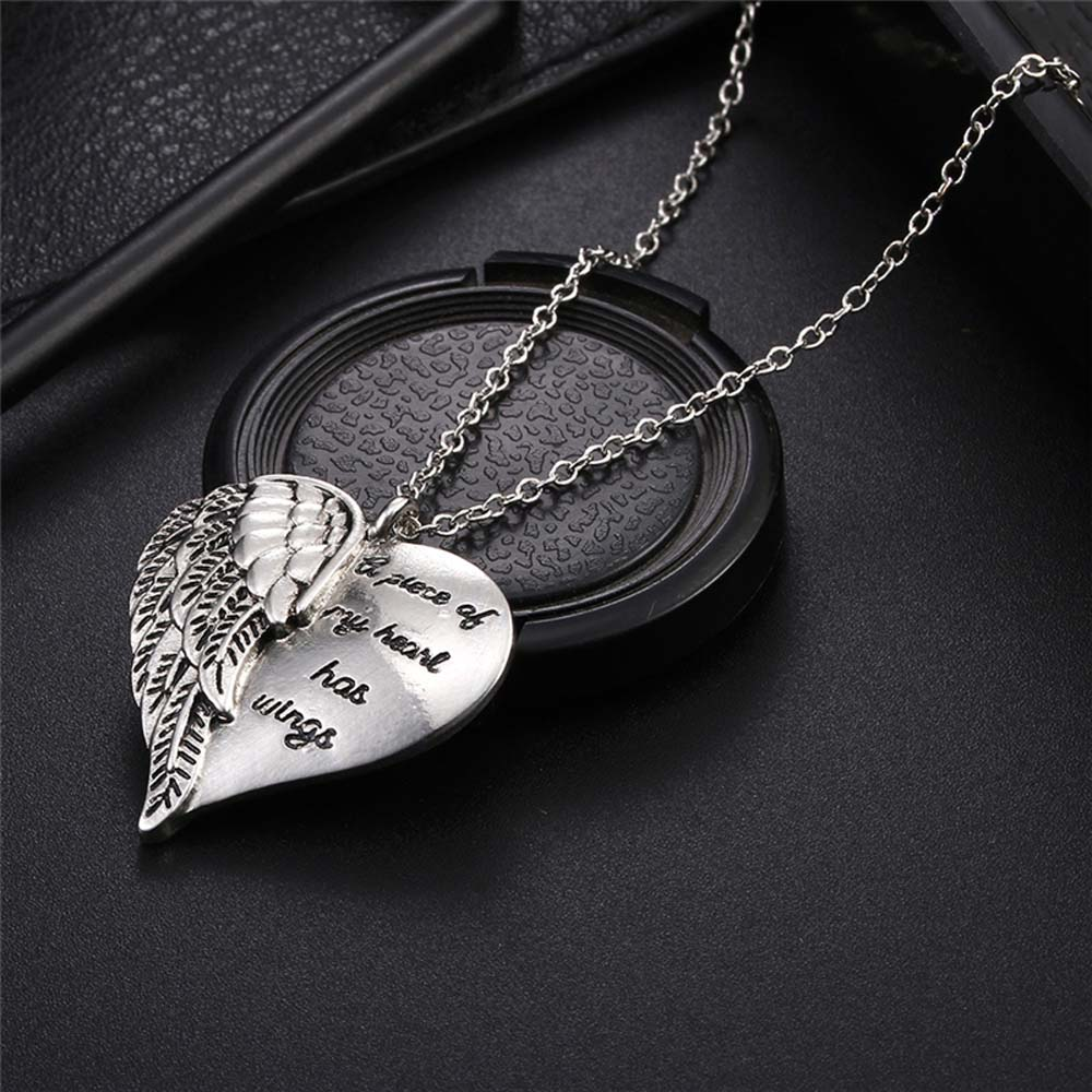"""A Piece of My Heart Has Wings"" Angel Necklace 5"