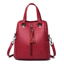 2019 Wome Multifunction Leather Backpacks Large Capacity Travel Bagpack Ladies Rucksacks Sac A Dos Female Back Pack Mochilas New