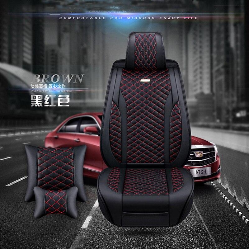 Nuevas fundas universales para asientos de coche compatibles con Citroen C3 XR C4 C5 C6 ds5LS DS6 DS 4S de cuero PU de lujo Auto cojín impermeable para asiento - 3