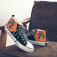 New Trend Youth High Top Flat Skateboarding Shoes Mens Comfortable Sport Men Breathable Canvas Vulcanized Male