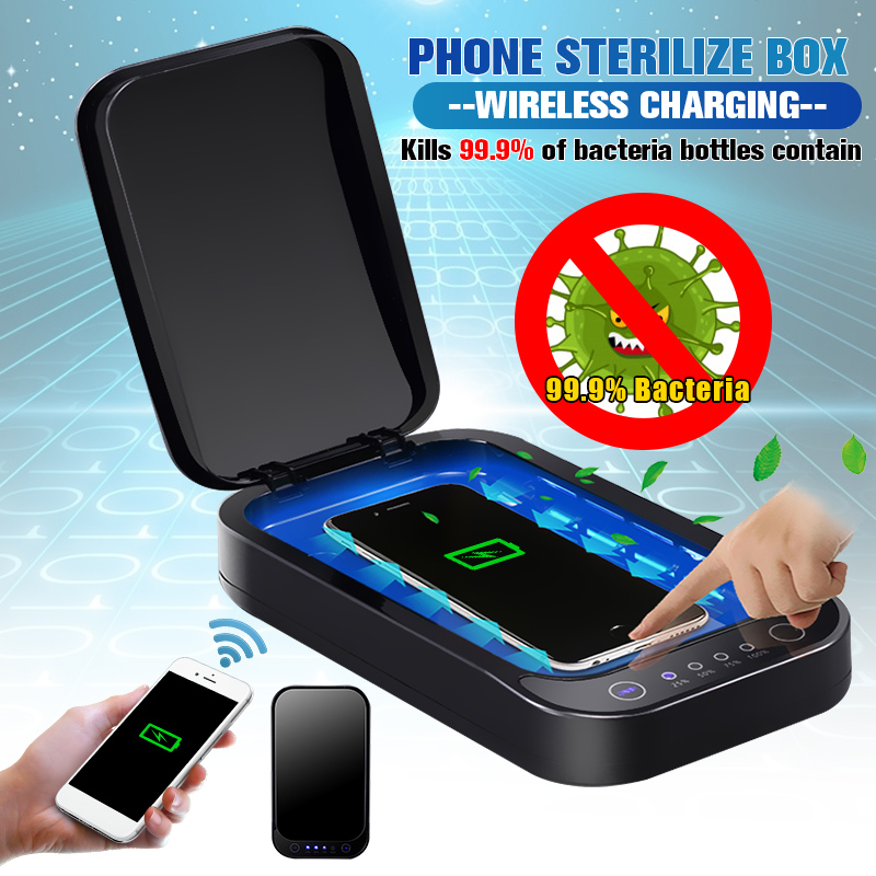 UV Phone Sterilizer Box Mask Phones Cleaner Personal Disinfection Cabinet With Aromatherapy Esterilizador Wireless Charging