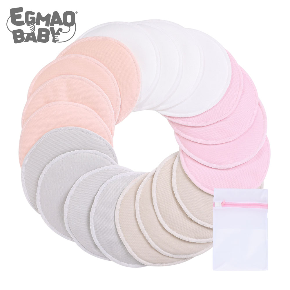 Organic Bamboo Nursing Breast Pads Reusable Nursing Pads Washable Breastfeeding Nipple Pad Nipplecovers For Breast Feeding