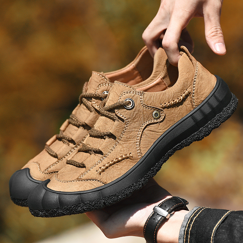outdoor genuine leather shoes mountaineer shoes help