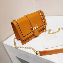 Long Gold Chain Brown Square Shoulder Bag Women Famous Brand Messenger Bags High Quality Cross Body For 2019