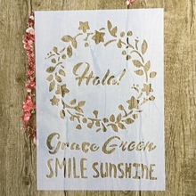 A4 29 * 21cm SMILE SUNSHINE DIY Stencils Wall Painting Scrapbook Coloring Embossing Album Decorative Paper Card Template