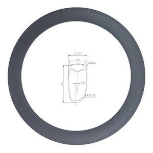 Image 1 - LIENGU hohe TG 250 ℃ v bremse track 700C 55mm rennrad felge 18mm innere asymmetrische tubeless v bremse fahrrad rad UD 12K 3K Köper
