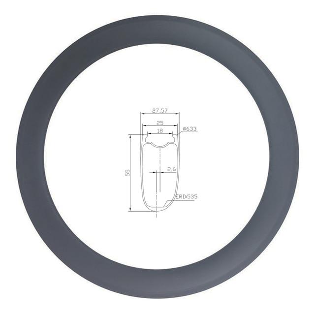 LIENGU hohe TG 250 ℃ v bremse track 700C 55mm rennrad felge 18mm innere asymmetrische tubeless v bremse fahrrad rad UD 12K 3K Köper