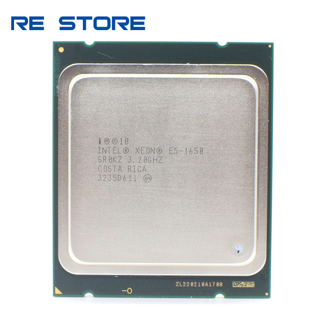 Б/у Intel Ксеон E5 1650 3,2 ГГц 6 Core 12 МБ Кэш гнездо 2011 Процессор процессор SR0KZ