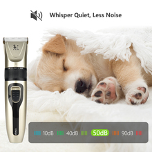 цены Powerful Electric Dog Hair Trimmer Kit Rechargeable USB Pet Hair Clipper Sharp Pet Dog Cat Grooming Haircut Shaver Tools Machine