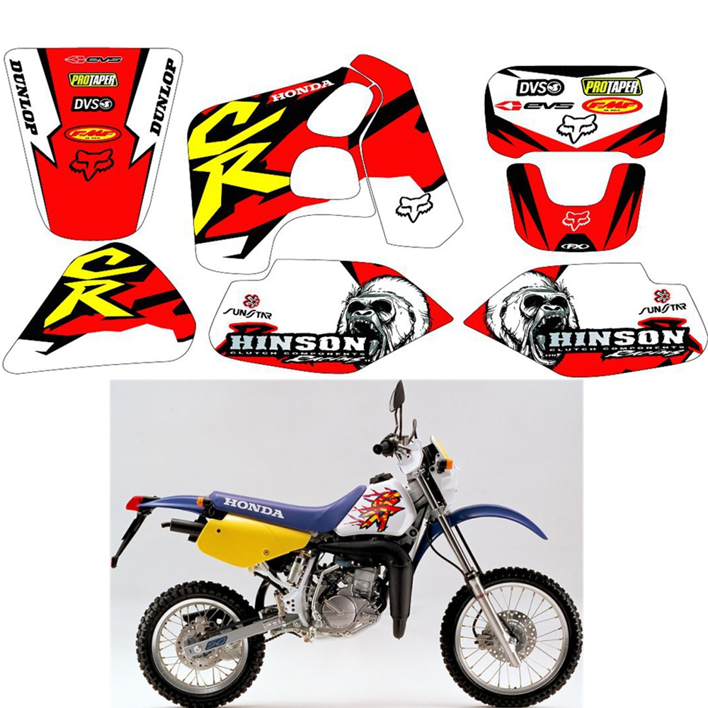 For HONDA CRM50 CRM80 CRM 50 80 Graphics Decals Stickers Custom Number Name 3M Full Motorcycle Backgrounds Stickers Accessories