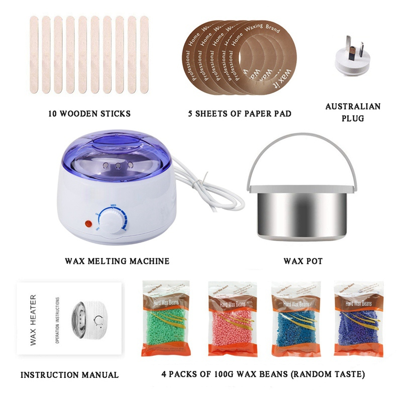 Hair Removal Sets Waxing Kits Wax Warmer Kit Painless Home Stripless For Whole Body Use Unisex Cera Depilatori