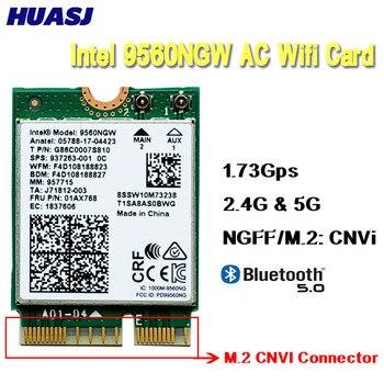 Huasj двухдиапазонный беспроводной AC 9560 Intel 9560NGW 802.11ac NGFF Key E 2,4G/Φ 2x2 карта WiFi Bluetooth 5,0