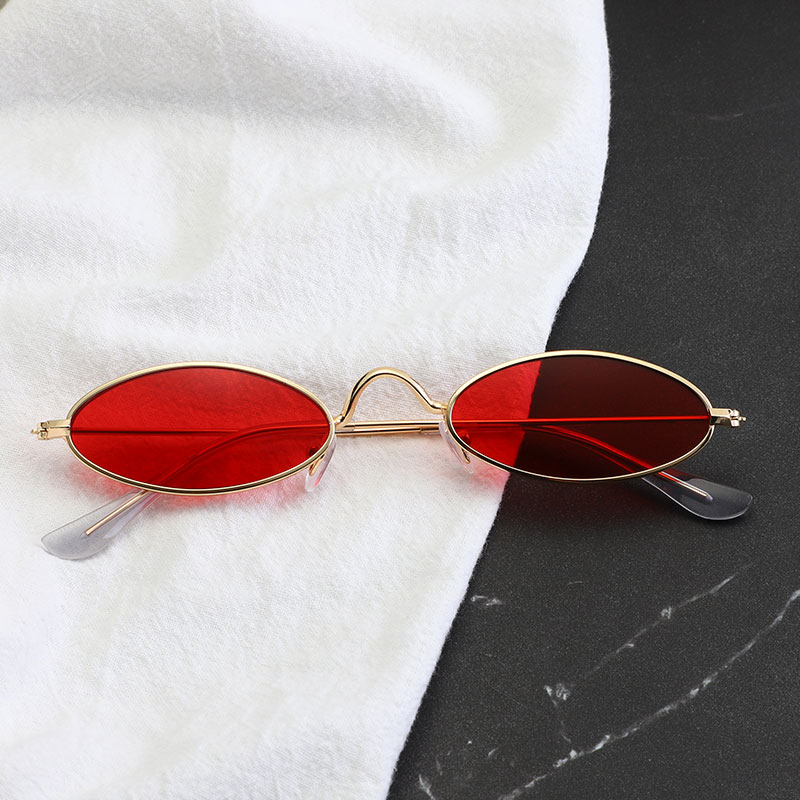 Classic Metal Small Glasses Designer Brand Trend Trend Sunglasses Women Sexy Glasses Adult Eyeglasses