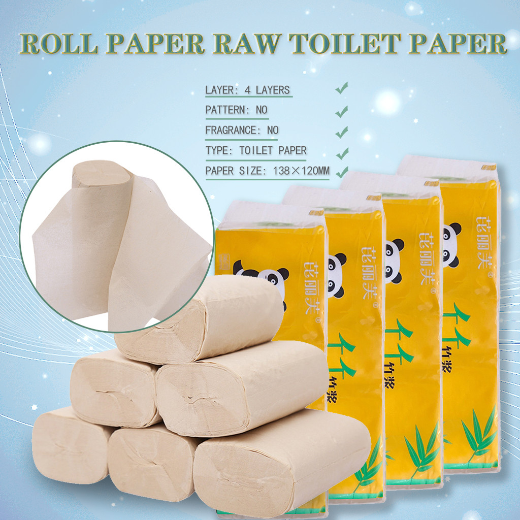 Roll Paper Print Interesting Soft Large Quantity Durable Toilet Paper Table Kitchen Paper